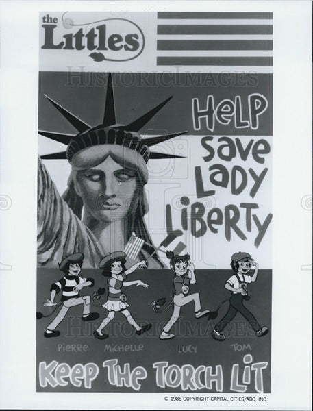 1986 Press Photo ABC Weekend Special Cartoon Liberty And The Littles - Historic Images