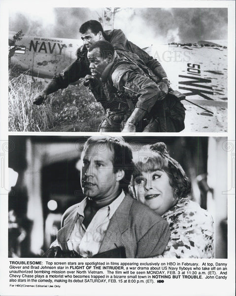 "Press Photo Scenes From ""Flight of the Intruder"" & ""Nothing But Trouble"" - Historic Images"