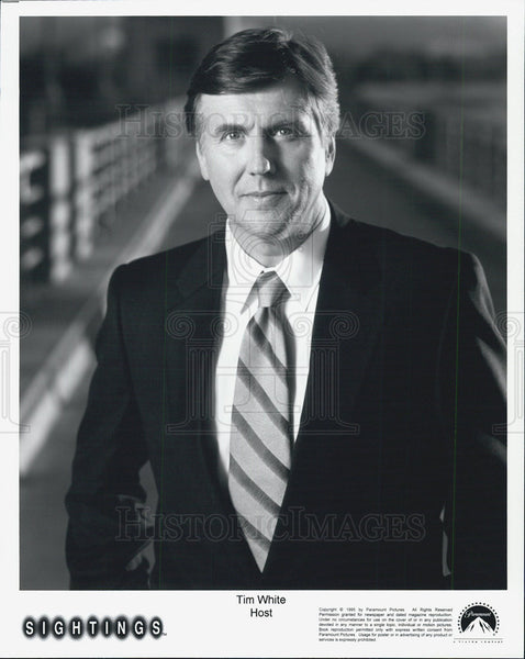 "1995 Press Photo FOX ""Sightings"" TV Host Tim White Reporter Newscasters Series - Historic Images"