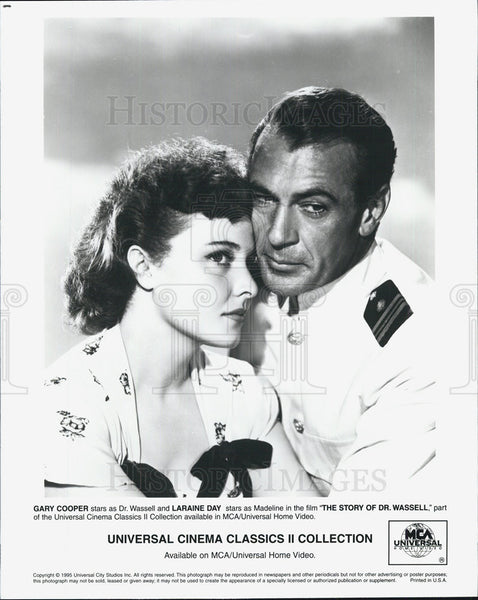 "1944 Press Photo Gary Cooper & Laraine Day in ""The Story of Dr Wassell"" - Historic Images"
