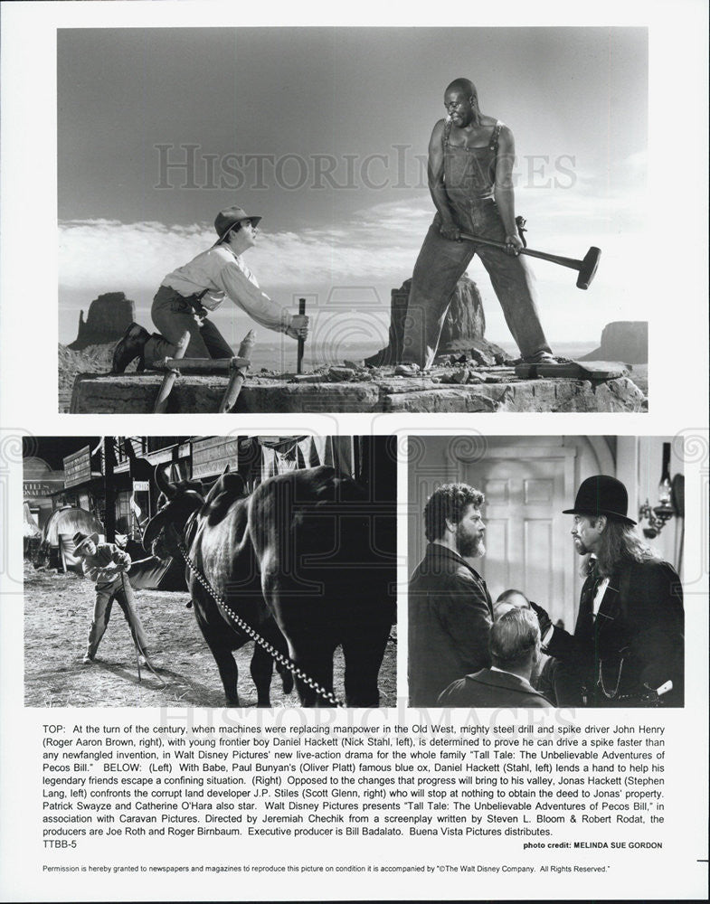 Press Photo Roger Alan Brown TALL TALE UNBELIEVABLE ADVENTURES OF PECOS BILL - Historic Images