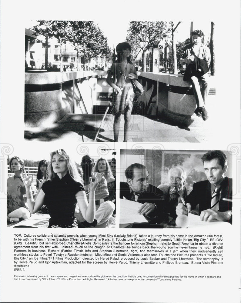 1994 Press Photo Film Little Indian Big City Ludwig Briand Thiery Lhermitte - Historic Images
