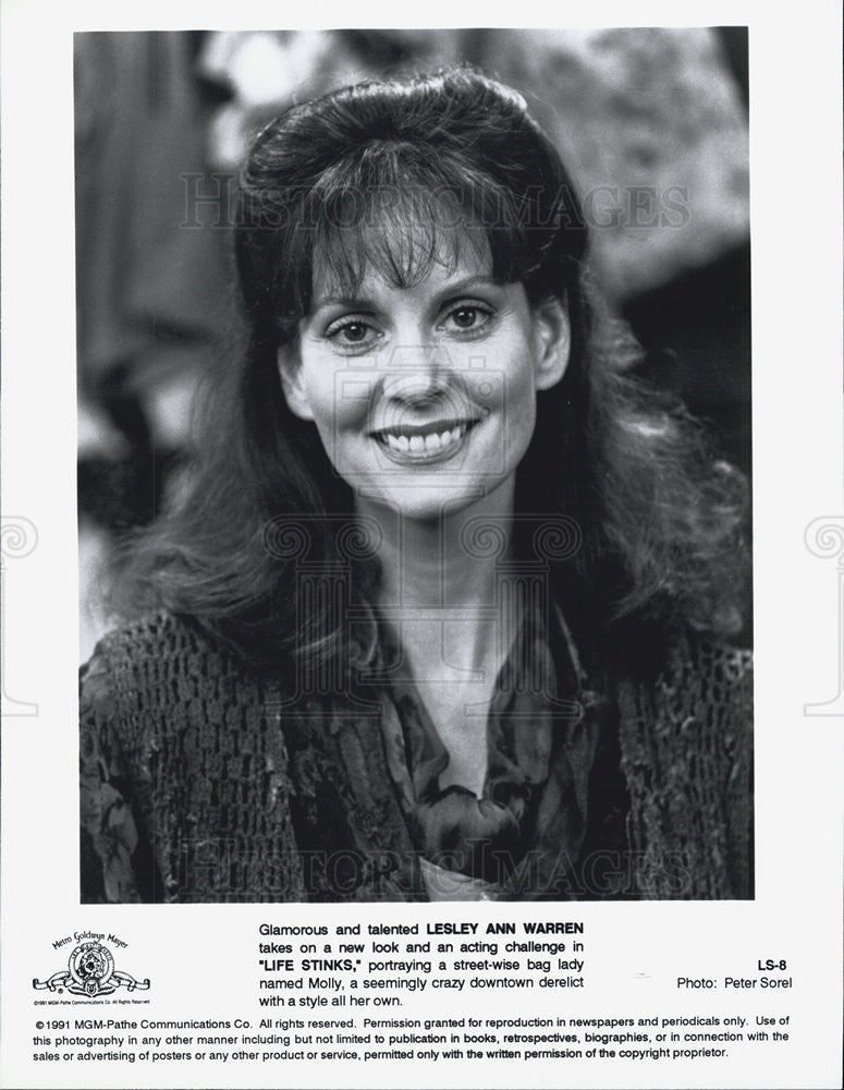 1991 Press Photo Lesley Ann Warren in Life Stinks - Historic Images