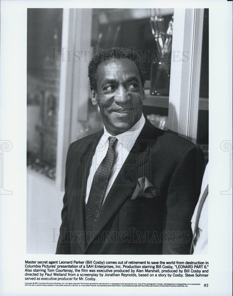 1987 Press Photo Bill Cosby as Leonard Parker in Leonard Part 6 - Historic Images