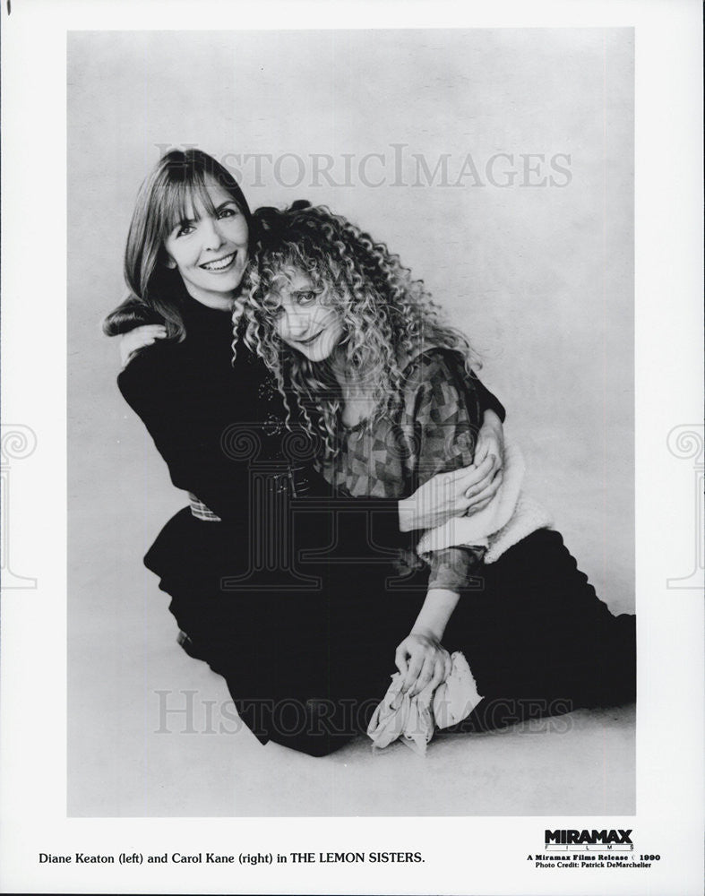 1990 Press Photo Film The Lemon Sisters Diane Keaton Carol Kane - Historic Images