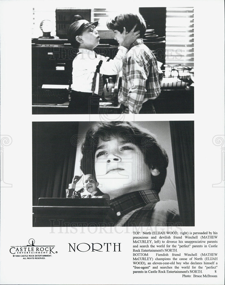 1994 Press Photo of American Child Actors Mather McCurley and Elijah Wood. - Historic Images