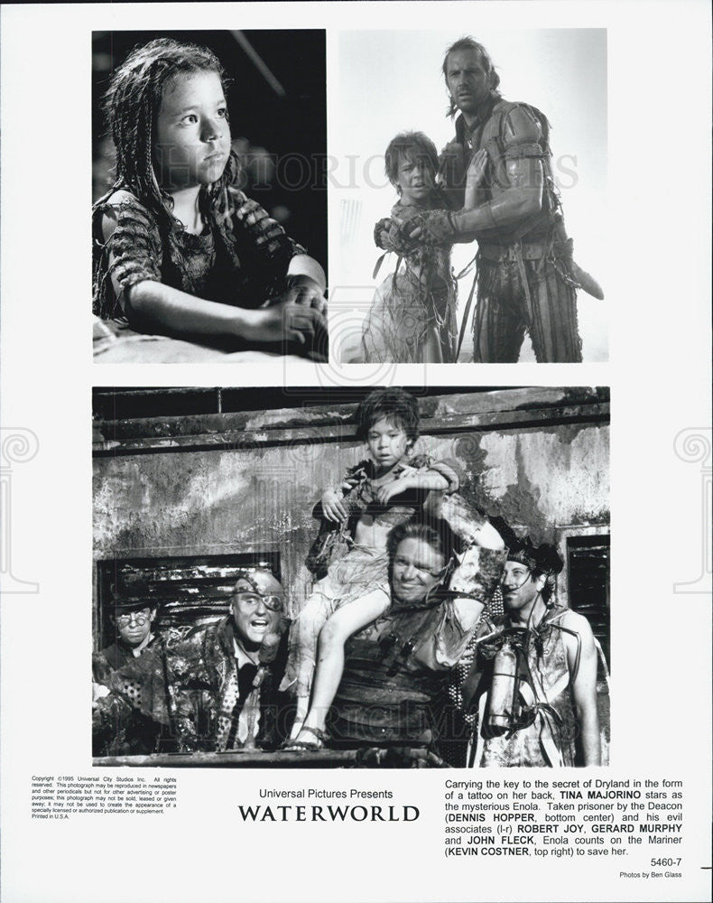 "1995 Press Photo Tina Majorino stars as Enola in ""Waterworld."" - Historic Images"