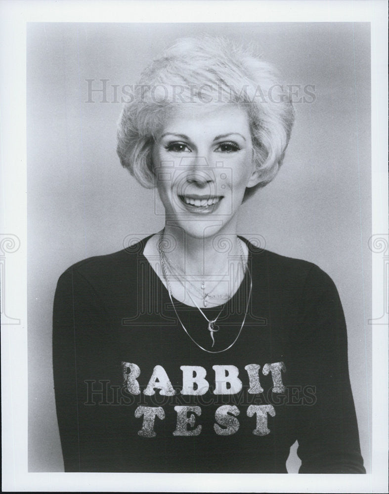 "Press Photo Joan Rivers co-authored and directed the film ""Rabbit Test."" - Historic Images"