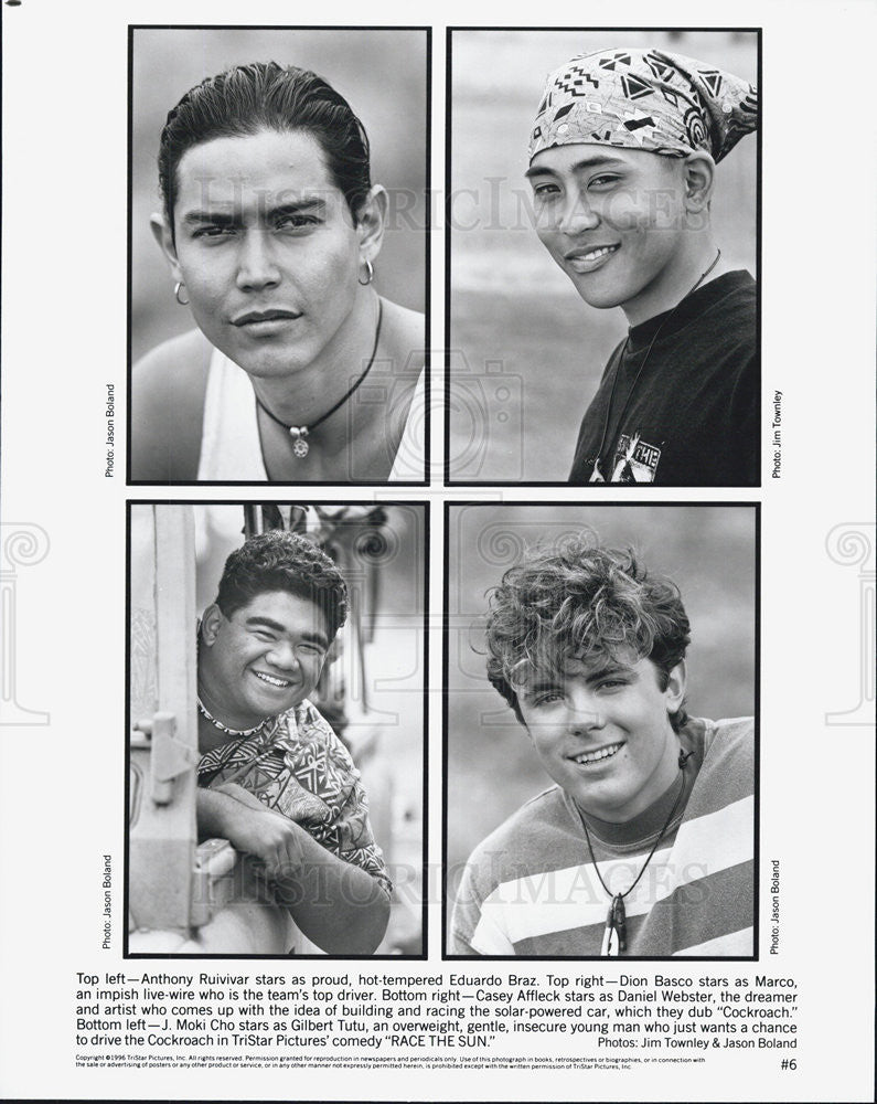 1996 Press Photo Anthony Ruivivar,Dion Basco,Casey Affleck,J Moki Cho - Historic Images