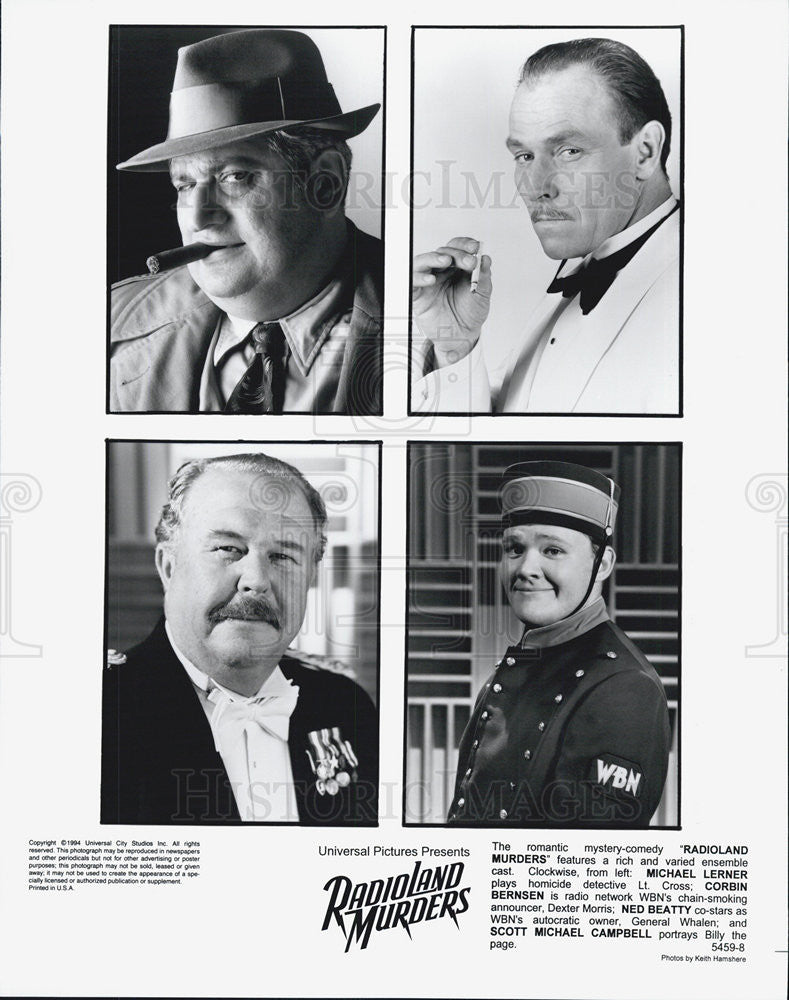 "1994 Press Photo cast of ""RadioLand Murders"". - Historic Images"
