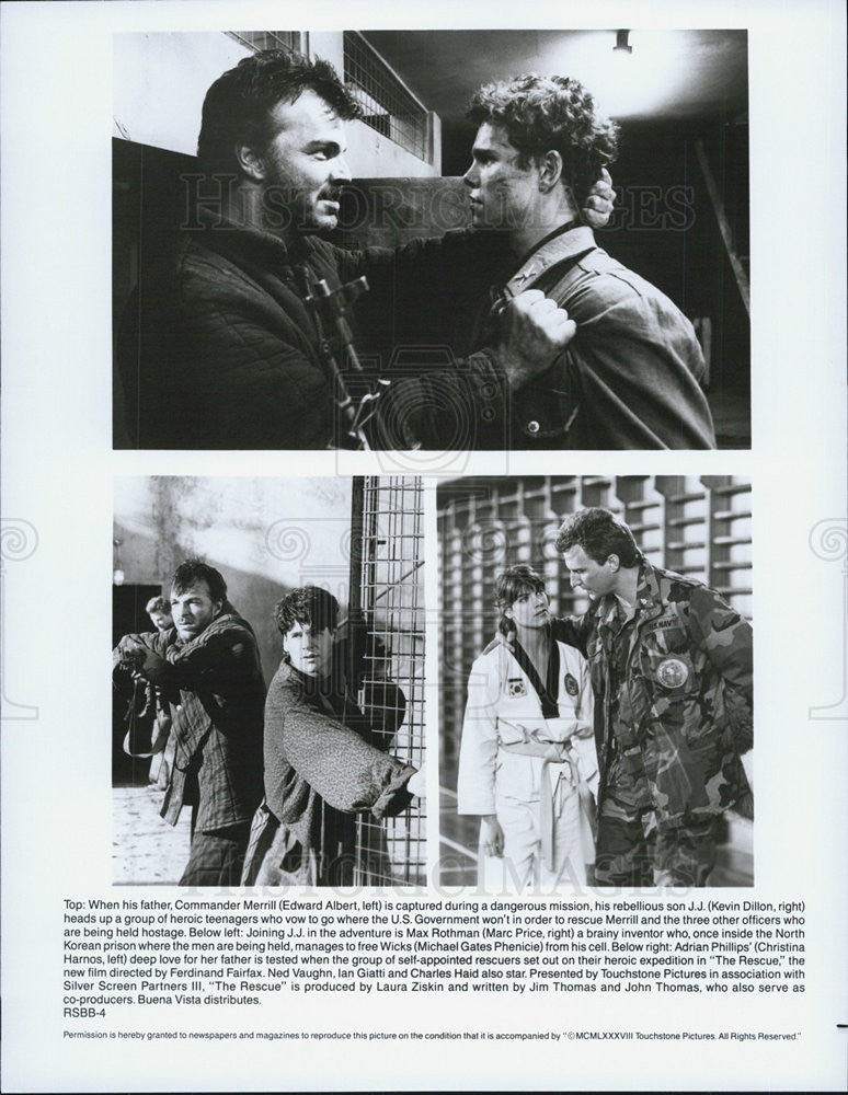 "1988 Press Photo Edward Albert in :The Rescue"" - Historic Images"