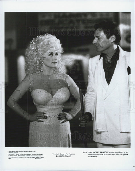 "1984 Press Photo Dolly Parton in ""Rhinestone"" - Historic Images"