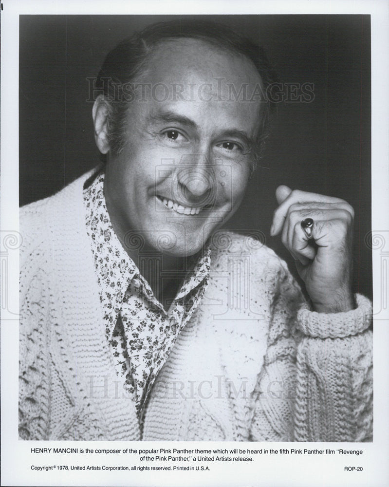 "1978 Press Photo Henry Mancini of ""Revenge of the Pink Panther"" - Historic Images"