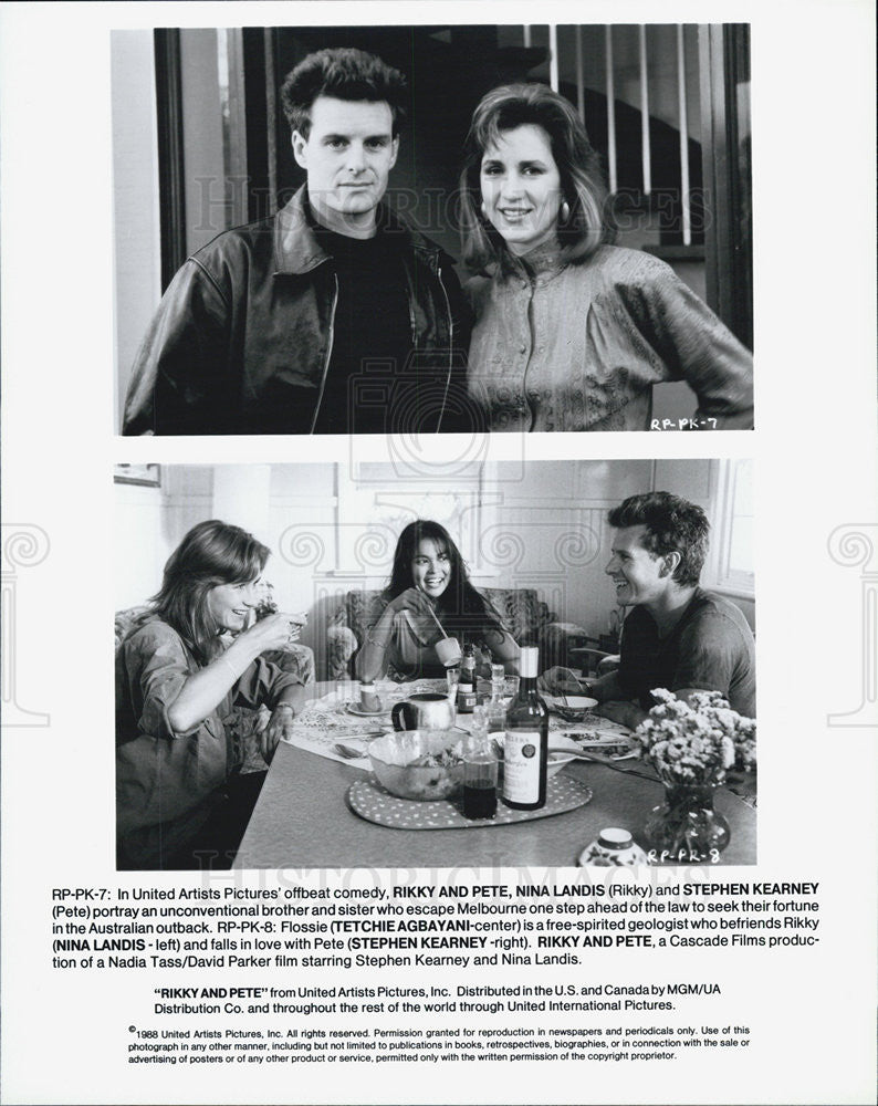 1988 Press Photo scene from the movie Rikky and Pete - Historic Images