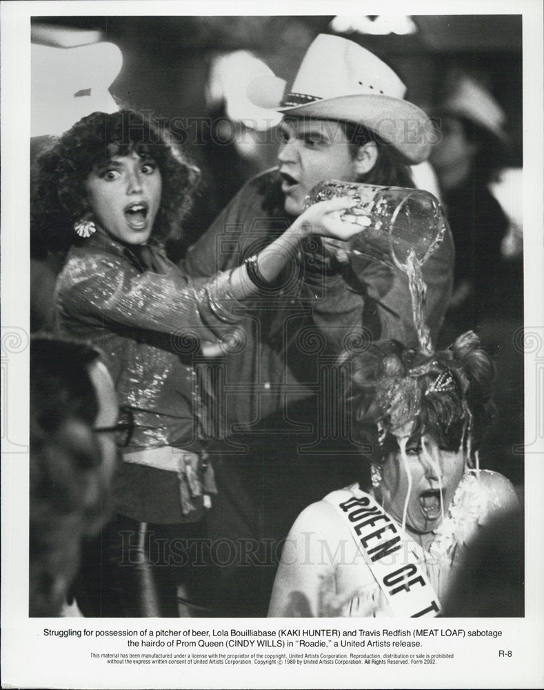 "1980 Press Photo Meat Loaf & Cindy Wills in ""Roadie"" - Historic Images"