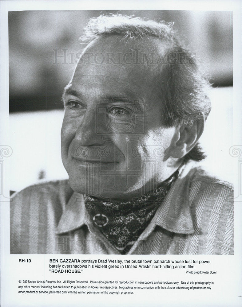 "1989 Press Photo Ben Gazzara in ""Road House"" - Historic Images"