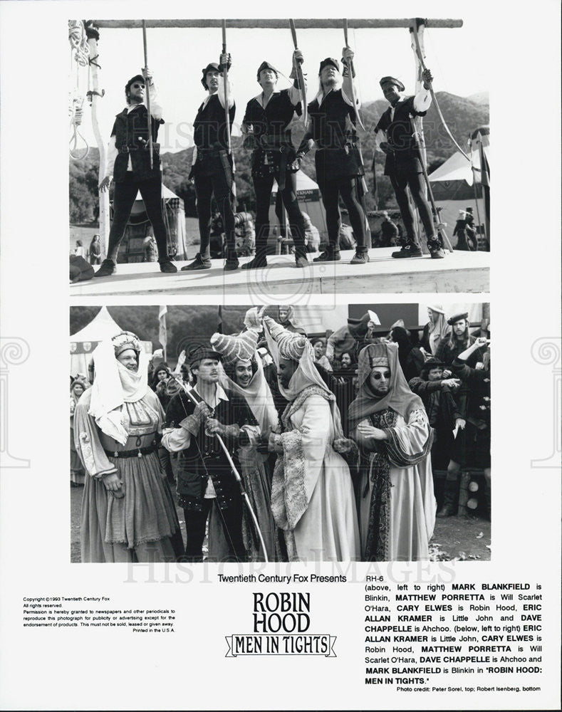 "1993 Press Photo Scenes from ""Robin Hood Men in Tights"" - Historic Images"