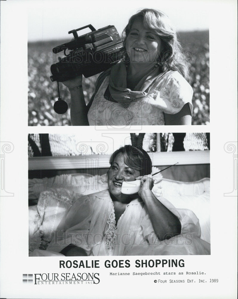 "1989 Press Photo Marianne Saegebrecht in ""Rosalie Goes Shopping"" - Historic Images"