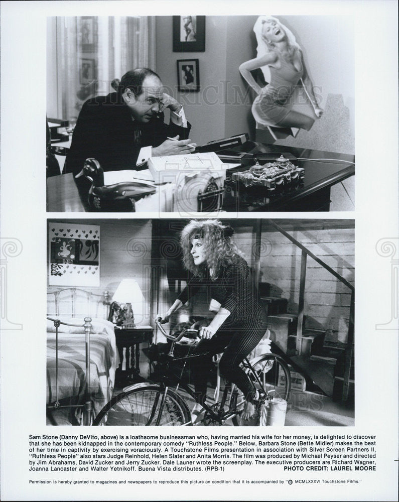 "1986 Press Photo Danny DeVito in ""Ruthless People"" - Historic Images"