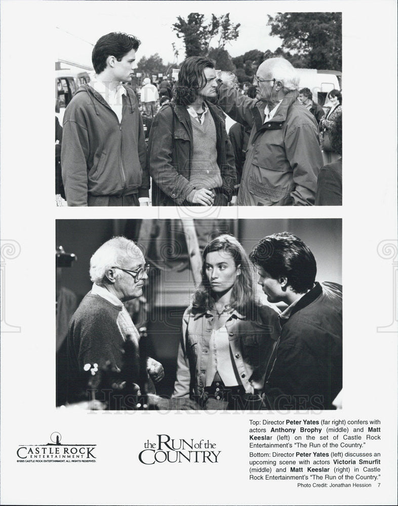 1995 Press Photo Peter Yates Director Anthony Brophy Actor RUN FOR THE COUNTRY - Historic Images