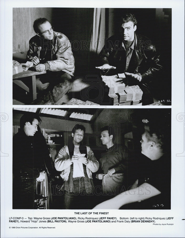 "1990 Press Photo ""The Last of the Finest"" Joe Pantoliano.Jeff Fahey.Bill Paxton - Historic Images"