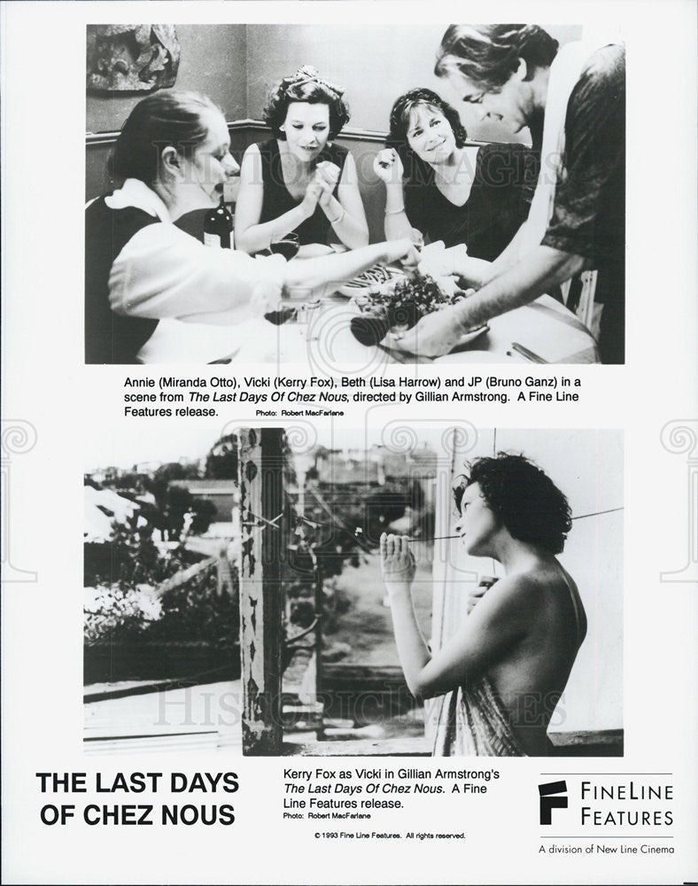 "1993 Press Photo Scenes from ""The Last Days of Chez Nous"" - Historic Images"