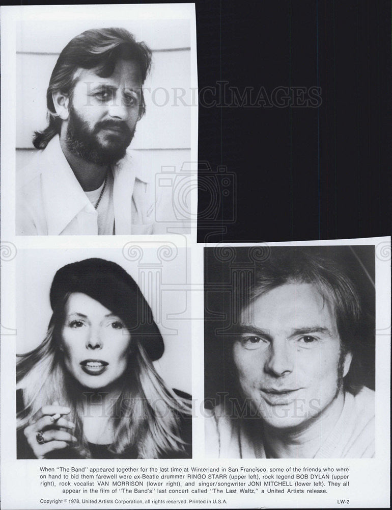"1978 Press Photo Cast of ""The Band"" - Historic Images"