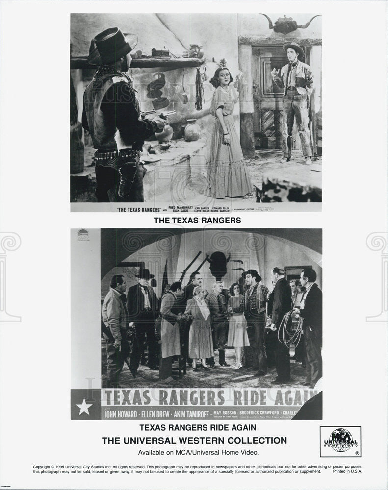 "1940 Press Photo Scenes from ""Texas Rangers Ride Again"" - Historic Images"