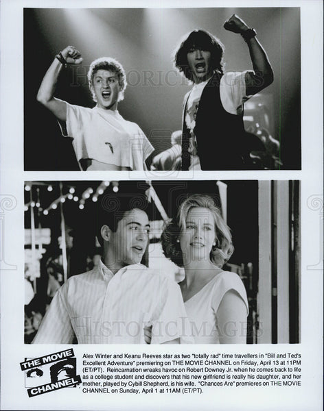 Press Photo Alex Winter Keanu Reeves BILL AND TED'S EXCELLENT ADVENTURE - Historic Images