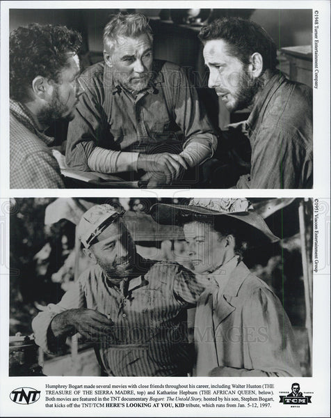 "1951 Press Photo Humphrey Bogart in ""African Queen"" & ""Treasure of Sierra Madre"" - Historic Images"