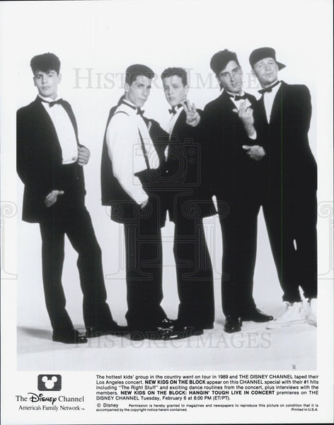 Press Photo  Music group New Kids on The Block - Historic Images