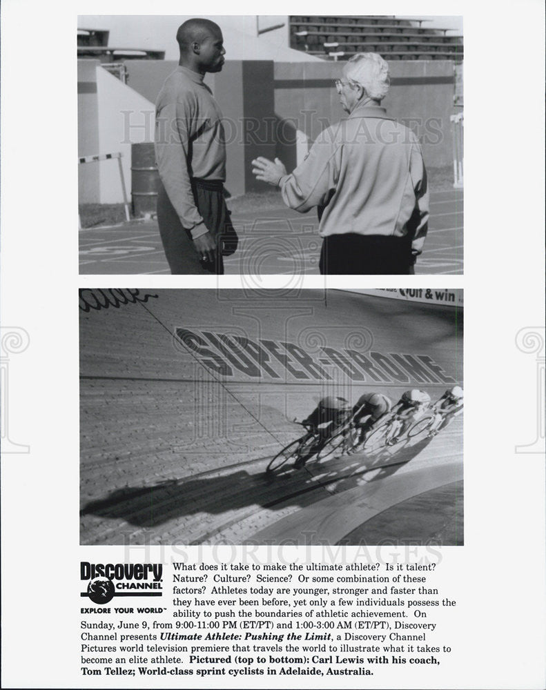 Press Photo Ultimate Athlete: Pushing the Limit Television Special Carl Lewis - Historic Images