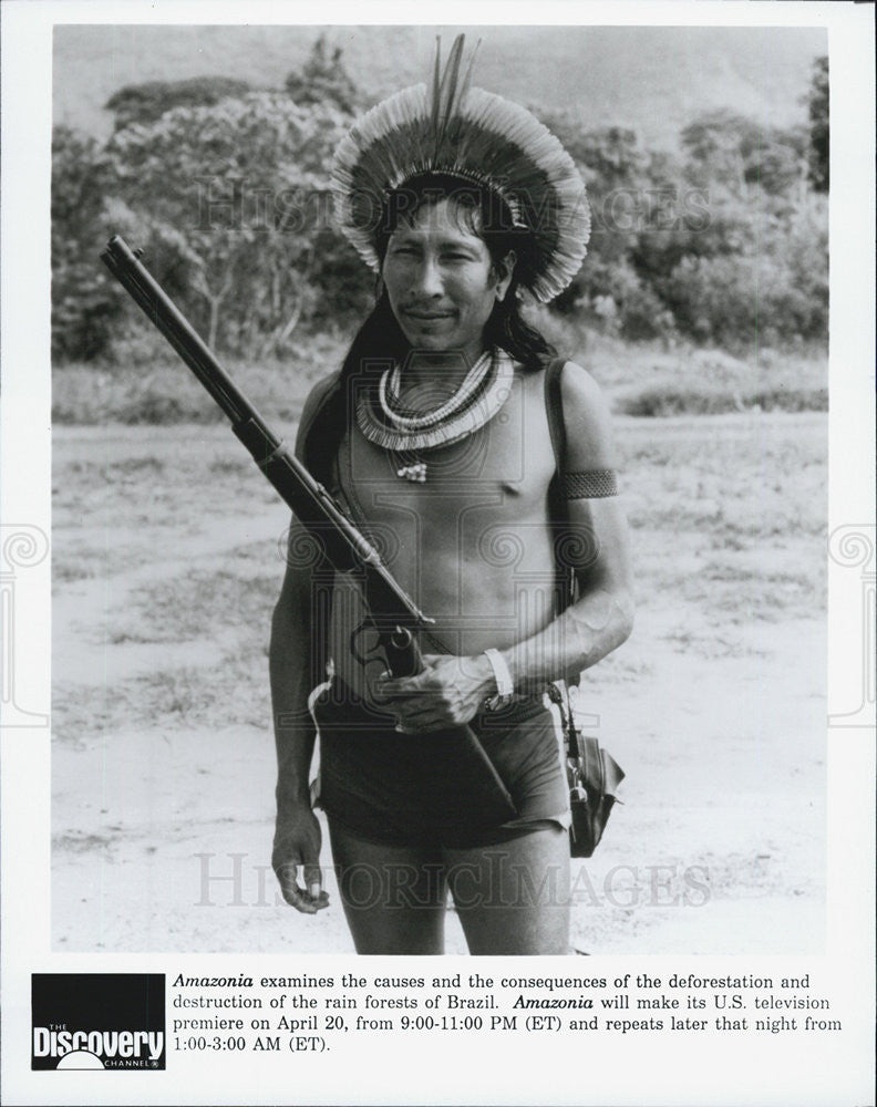 Press Photo Amazonia Television series special The Discovery Chanel - Historic Images