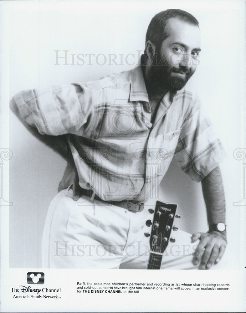Press Photo Raffi children's performer recording artist Disney Channel - Historic Images