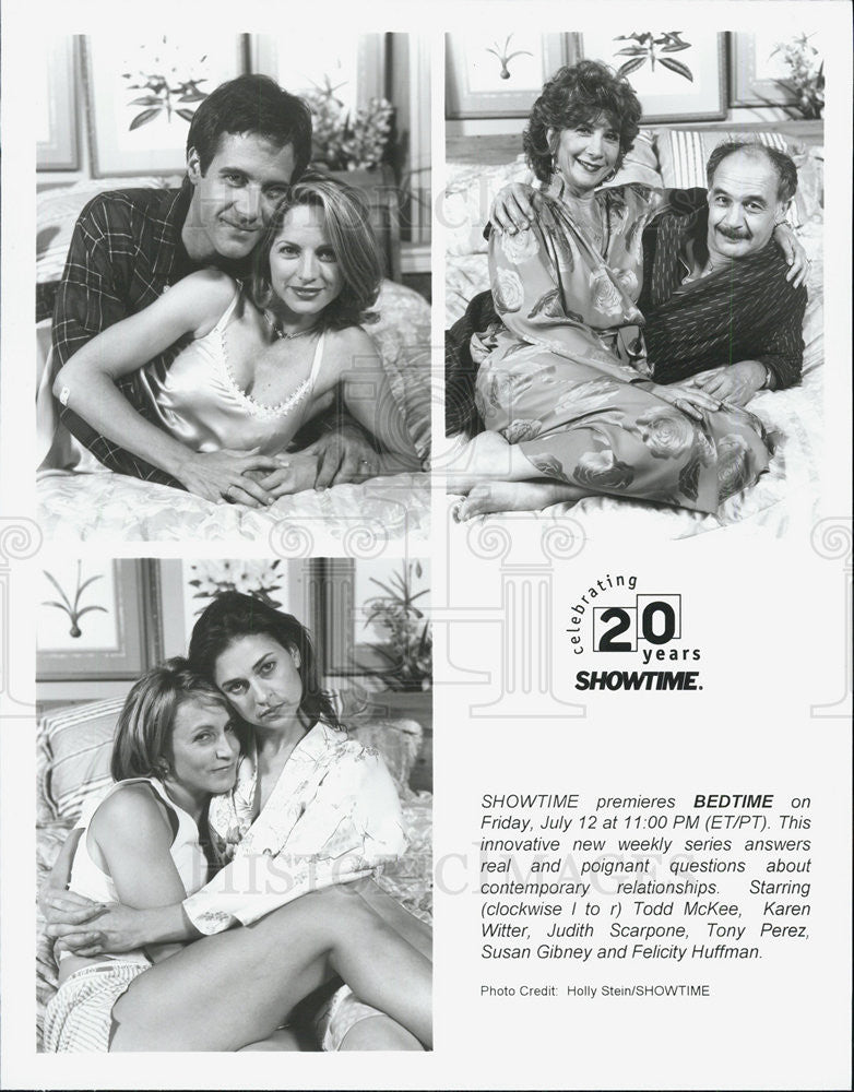 1996 Press Photo Bedtime Todd McKee Karen Witter Judith Scarpone Tony Perez - Historic Images