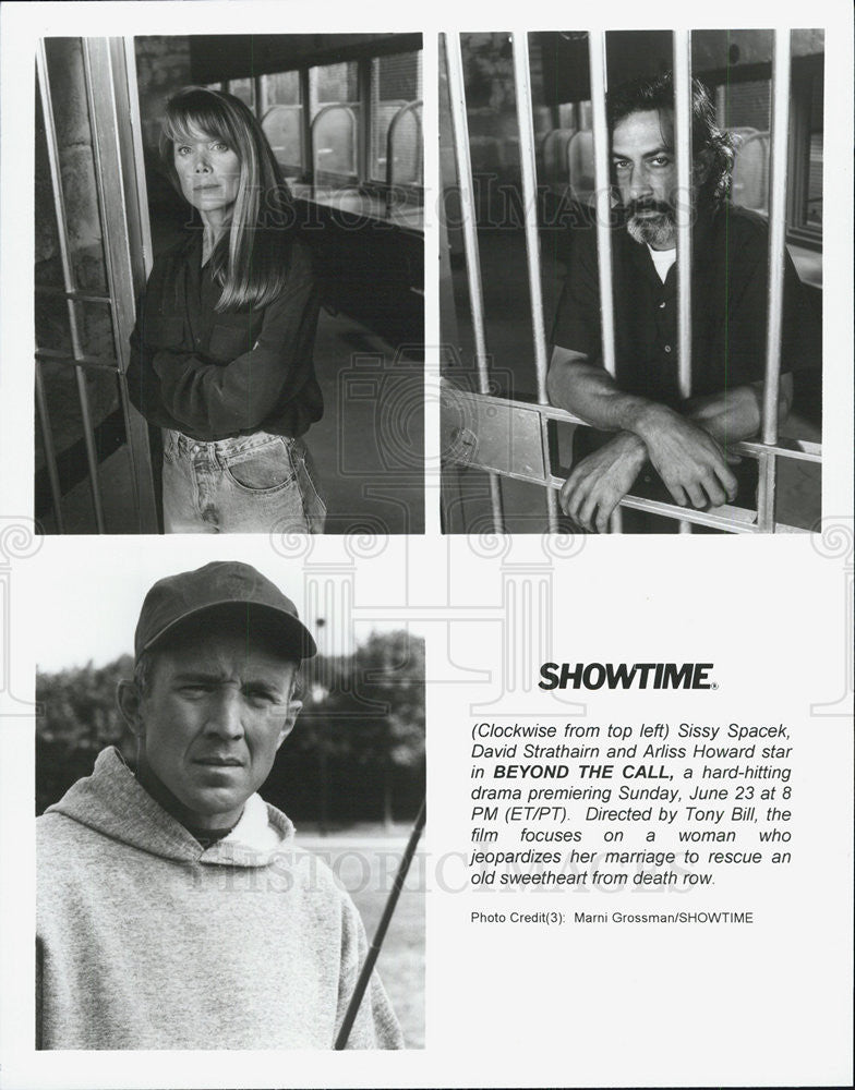 1996 Press Photo Beyond the Call Sissy Spacek David Strathairn Arliss Howard - Historic Images