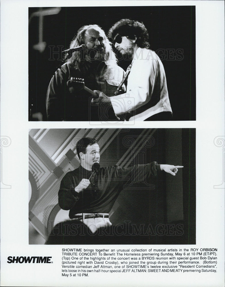 Press Photo Roy Orbison Tribute Concert Bob Dylan David Crosby - Historic Images