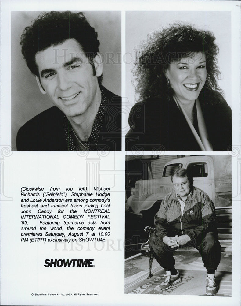 1988 Press Photo Michael Richards,Stephanie Hodge & Louie Anderson - Historic Images