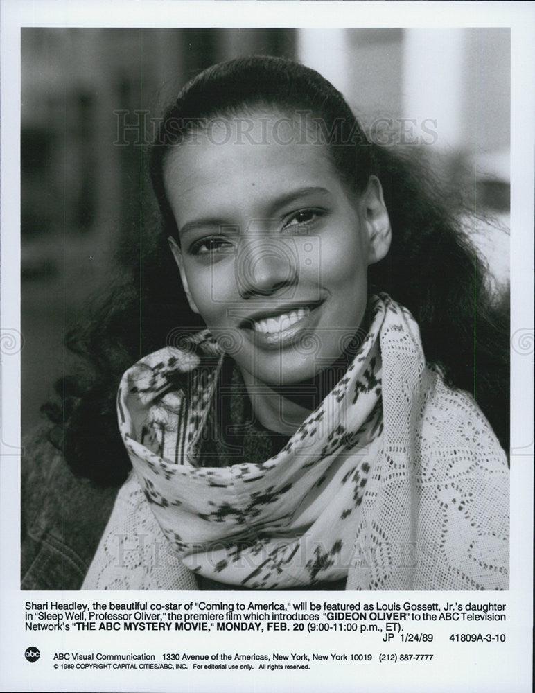 "1989 Press Photo Sharl Headley, star of ""Sleep Well, Professor Oliver"" on ABC - Historic Images"