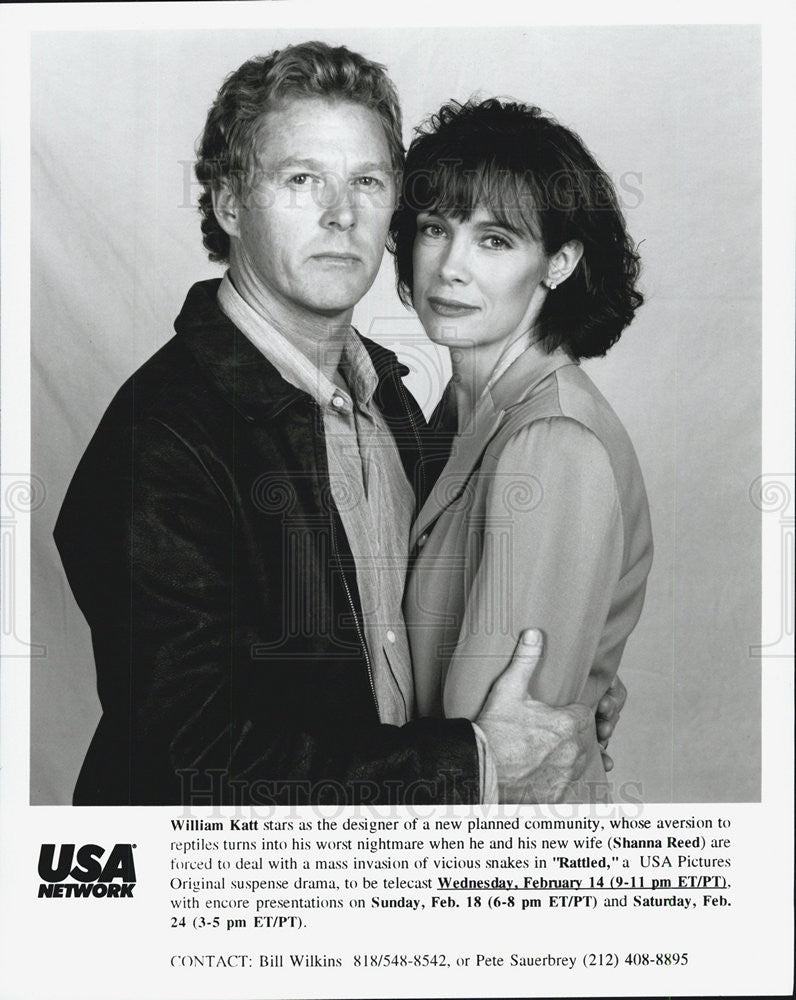 Press Photo William Katt, Shanna Reed, Rattled - Historic Images