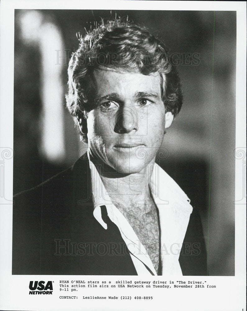 "1978 Press Photo Ryan O'Neal in ""The Driver"" - Historic Images"