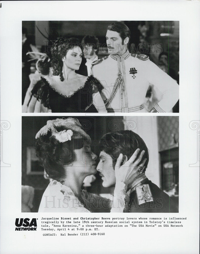 Press Photo Jacqueline Bisset, Christopher Reeve, Anna Karenina - Historic Images