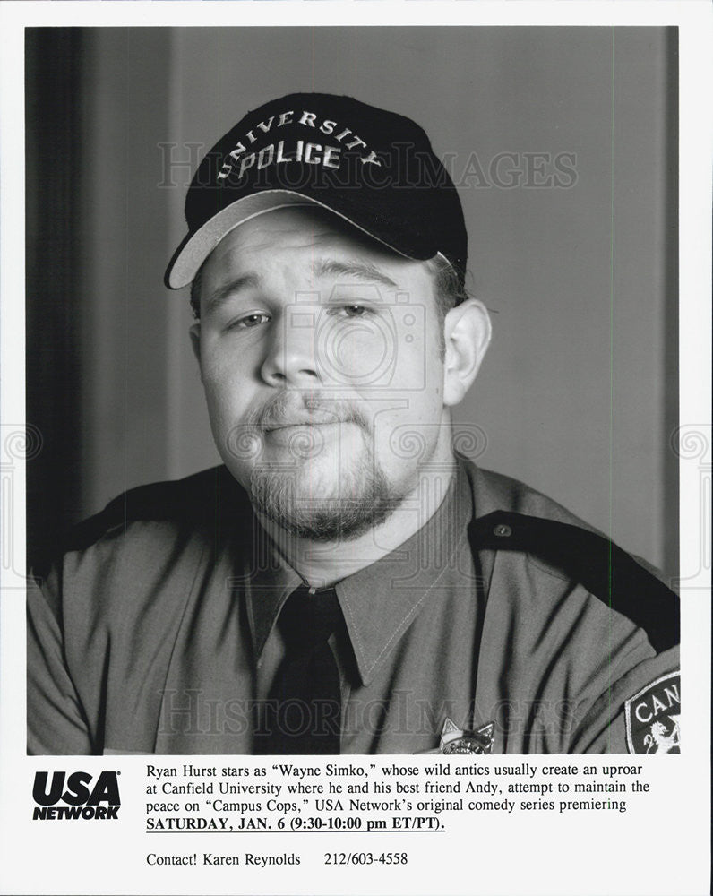 "1995 Press Photo Wayne Simko, star of ""Campus Cops"" on USA Network - Historic Images"