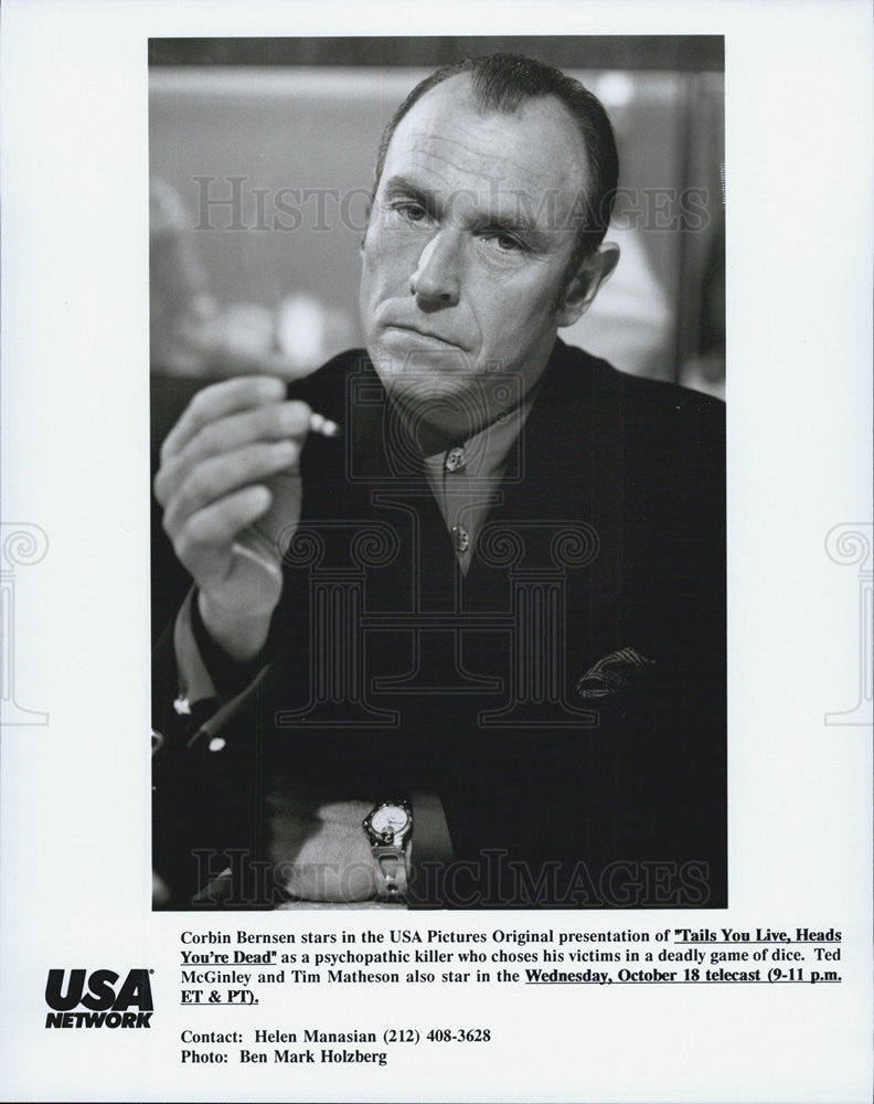 "1995 Press Photo Corbin Berenson in ""Tails You Live,Heads You Die"" - Historic Images"