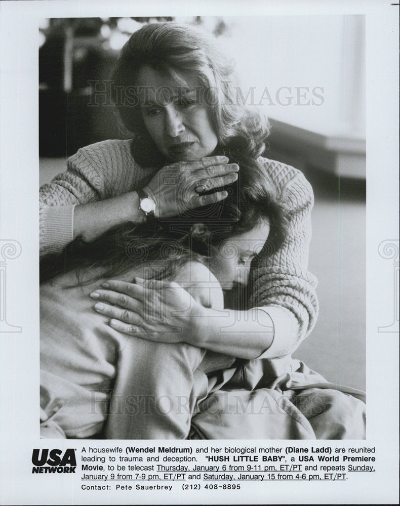 1993 Press Photo USA Network movie Hush Little Baby Wendel Meldrum Diane Ladd - Historic Images