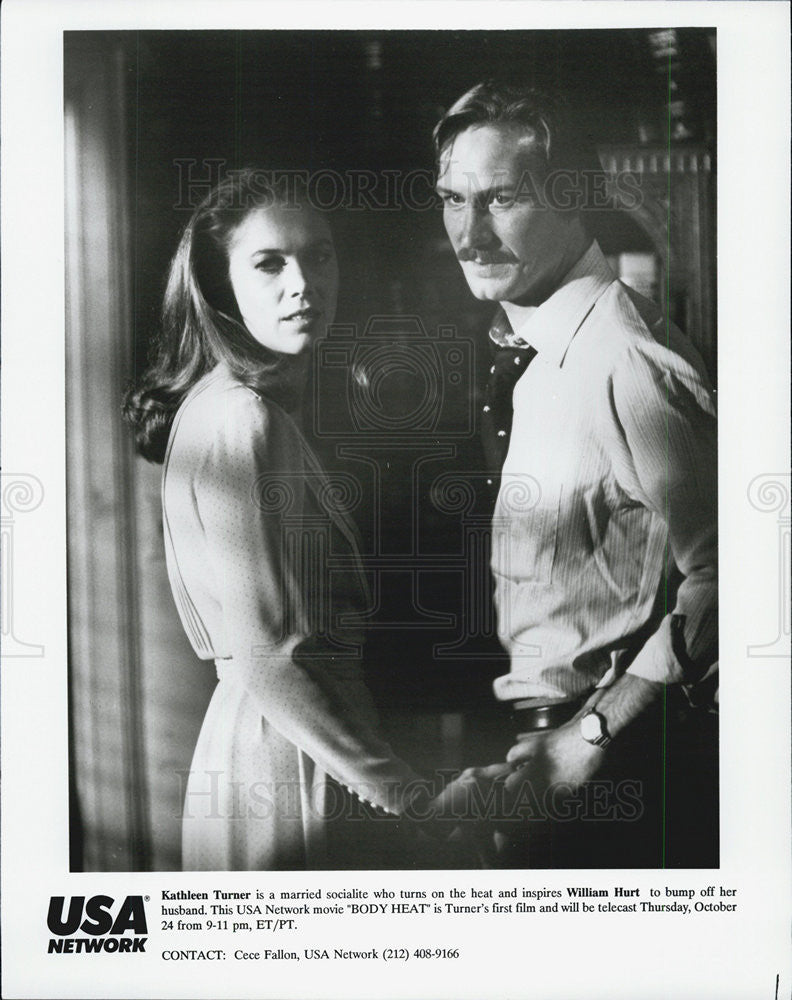 1981 Press Photo Film Body Heat William Hurt Kathleen Turner - Historic Images