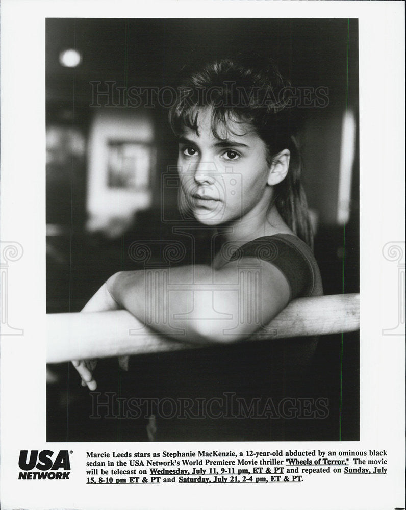 "1990 Press Photo Marcie Leeds starring in ""Wheels of Terror"" - Historic Images"
