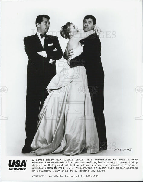 "1956 Press Photo stars of ""Hollywood or Bust"" - Historic Images"