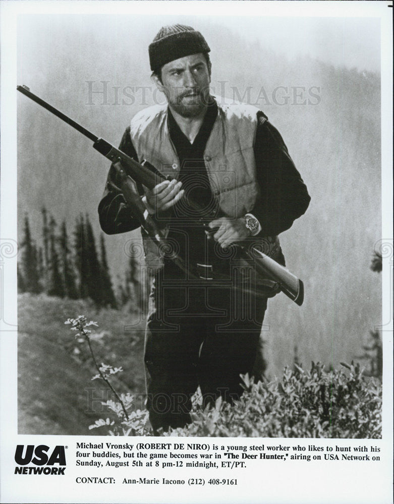 "1978 Press Photo Robert De Niro in ""The Deer Hunter"" - Historic Images"