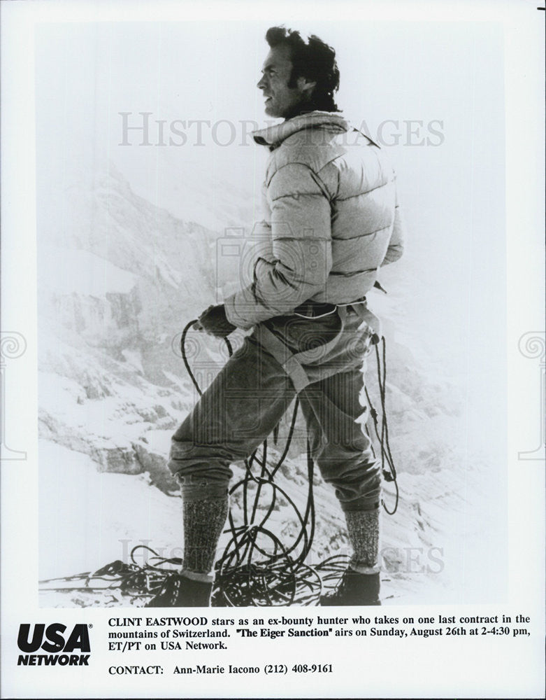 "1975 Press Photo Clint Eastwood in ""The Eiger Sanction"" - Historic Images"